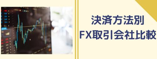 決済方法別FX取引会社比較